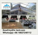 Personalizada Carpa de la boda con techo transparente y claro Wall
