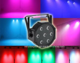7X10W LED Mini PAR Can Slim Flat PAR 64 Disco Light