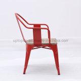 Красный стул трактира металла с деревянным местом (SP-MC093)