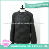 Chandail Hand Knitted d'école de coton de l'hiver de laines de dames