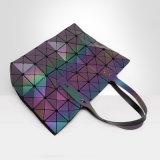Saco de ombro horizontal geométrico Rhombic luminoso da versão do plutônio (A0100)