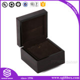 Caixa de jóia de empacotamento da alta qualidade do presente de madeira de couro de papel