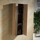 Vaidade de madeira da madeira contínua de 47 polegadas com gabinete do espelho e gabinete do lado
