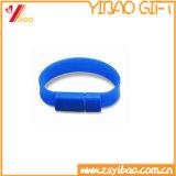 Profesional colorido al por mayor del USB de silicona pulsera de la pulsera