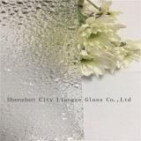 De verre estampé en verre de configuration/figure glace en verre/modelée avec la configuration de diamant pour décoré