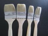 Escova de pintura longa de madeira do punho da cerda natural