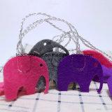 Luz de hadas de la cadena del color multi de la batería de la dimensión de una variable del elefante para la decoración del jardín de interior del dormitorio