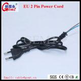 힘 연장 전기줄 2 Pin H03VV-F Powercord 케이블 EU 2 Pin 플러그 전원