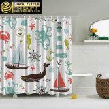 Projetos da cortina de chuveiro das crianças bonitas da cortina de chuveiro do banheiro