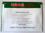 De Uitdrukkelijke Envelop van het karton met de Duidelijke Zak van de Zak van het Document