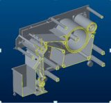 Hohe abkühlende Leistungsfähigkeit und niedriges Geschäfts-Kosten-Puder, die kompakte abkühlende Zerkleinerungsmaschine beschichtet