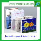 Sacchetto di carta personalizzato del regalo dei sacchetti di acquisto della carta da stampa