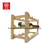 Nueva madera sólida de pino 12 botellas de vino Shelving titular de la cerveza