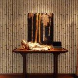 Projeto de bambu de cor verde Moldura de parede decorativa decorativa de parede