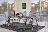 8 cadeiras de jantar ajustadas modernas da tabela de jantar do mármore de Seater de aço