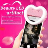 Luz de destello de Selfie LED de la dimensión de una variable del corazón del espejo de 2016 Portable