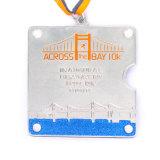 Medaglia corrente di maratona del metallo del pezzo fuso con la sagola
