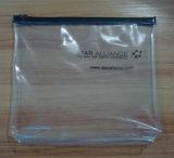 Sac cosmétique zip-lock transparent de PVC de prix bas d'OEM