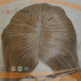 Hoogste Kwaliteit in Pruik van de Kleur van het Mengsel van de Zijde van het Eind van de Voorraad de Hoge Hoogste Blonde Lichtbruine Joodse Kosjer
