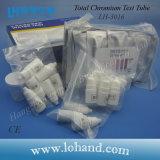Éprouvette chimique de chrome d'essai de total en plastique d'éprouvette