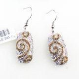 2017 New Design Natural Drusy Drop Earrings Fashion Jewelry Wholesale