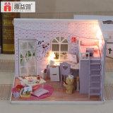Dollhouse de madera del modelo DIY de la escala del 1:24 de Wholsale de la fabricación para Educuation de los niños el mejor tiempo