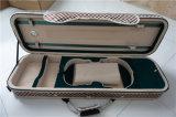 Sinousikの細長い革コートのバイオリンの箱