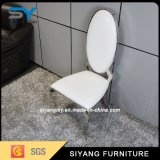 Chinesischer Möbel-moderner Edelstahl-lederner speisender Stuhl
