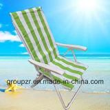 Cadeira dobrável exterior em metal para praia, pesca, lazer