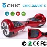 Rote Farben-Selbst, der elektrischen Roller-Vorstand mit LED, persönliche Transportvorrichtung, einfach zu tragen balanciert
