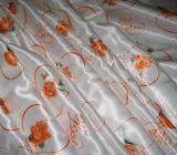 Tecido de cetim impresso para mulheres Vestido e cachecol