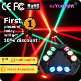 9 PCS 12W RGBW 4in1のクリー族無限回転LEDのくものビーム移動ヘッド