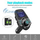 1.44 '' radios sans fil abouties neuve chaude 2 USB d'étalage chargeant MP3 Bluetooth émetteur FM pour le véhicule
