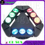 9X12W 4in1 RGBW armkreuz-Träger-Licht UFO-LED bewegliches Haupt