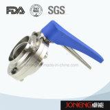 Válvula de borboleta sanitária soldada manual de aço inoxidável (JN-BV1001)