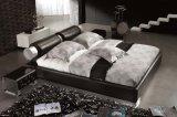 Кровать неподдельной кожи новой шикарной конструкции самомоднейшая (HC193) для спальни