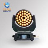 Luz principal móvil de la colada del patio 36*10W 4in1 RGBW/RGBA LED de Rasha con la función DMX Powercon del zoom para el club del partido del acontecimiento del disco