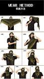 Het militaire Tactische OpenluchtKatoen van de Stam van de Woestijn warm-Houdt reizend het Kamperen Camourflage het Midden-Oosten de Wind zand-Bewijs Sjaal van de Handdoek