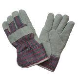 Gants chauds de travail du plein de garniture de boa de cuir de pâte hiver de manchette pour le gréeur