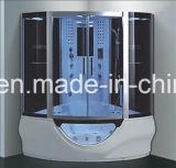 sauna de vapeur de secteur de 1500mm avec le jacuzzi et le Tvdvd (AT-G9050-1TVDVD)