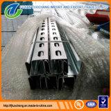Canal de puntal de perfil de acero galvanizado ranurado