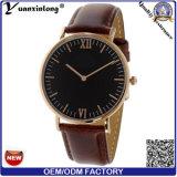 El reloj de la alineada de las señoras del reloj de las mujeres del cuero genuino de la promoción Yxl-035 crea el reloj del cuarzo para requisitos particulares de la mano