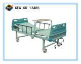 (A-89) Cama de hospital manual Double-Function movible con la pista de la base del ABS