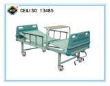(A-89) Bewegliches Double-Function manuelles Krankenhaus-Bett mit ABS Bett-Kopf