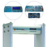 Caminata del uso de la batería de la visualización del LCD a través del detector de metales con la función de la palabra de paso