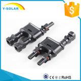 Mc4t-A1 2 bis 1 20A-30A TUV-1000V Zweig-Kabel-Solarverbinder