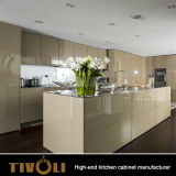 Cabinas de cocina blancas azules coloridas modificadas para requisitos particulares de Tiffiny del alto lustre Tivo-00073V