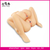 Double Decker 4 trous Sex Dolls Realistic Pussy and Ass Masturbator pour Homme