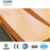 Placa de cobre amarillo de cobre de Cc382h para el equipo eléctrico Cn1