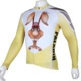 Смешная куртка спортов способа Partterned изображения кролика покрывает втулка Breathable быстро сухой задействуя Джерси людей длинняя